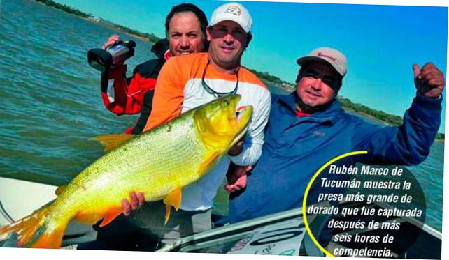 Gran concurrencia  en la Pesca realizado en Paso de La Patria  los  Tucumanos  muestra el ejemplar  de Dorado capturado